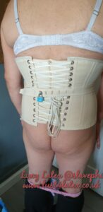 Rear of Corset